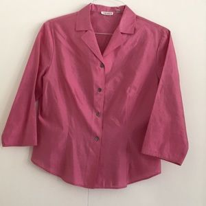 Pink Tahari Button Down